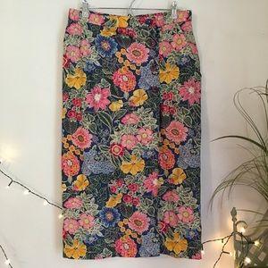 Talbots Floral Wrap Maxi Skirt - Vintage